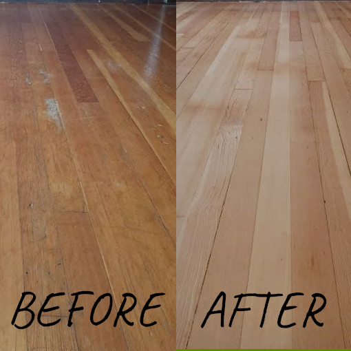 Refinishing before and after