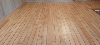 Fir wood flooringafter