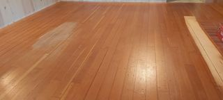 Fir wood flooringbefore
