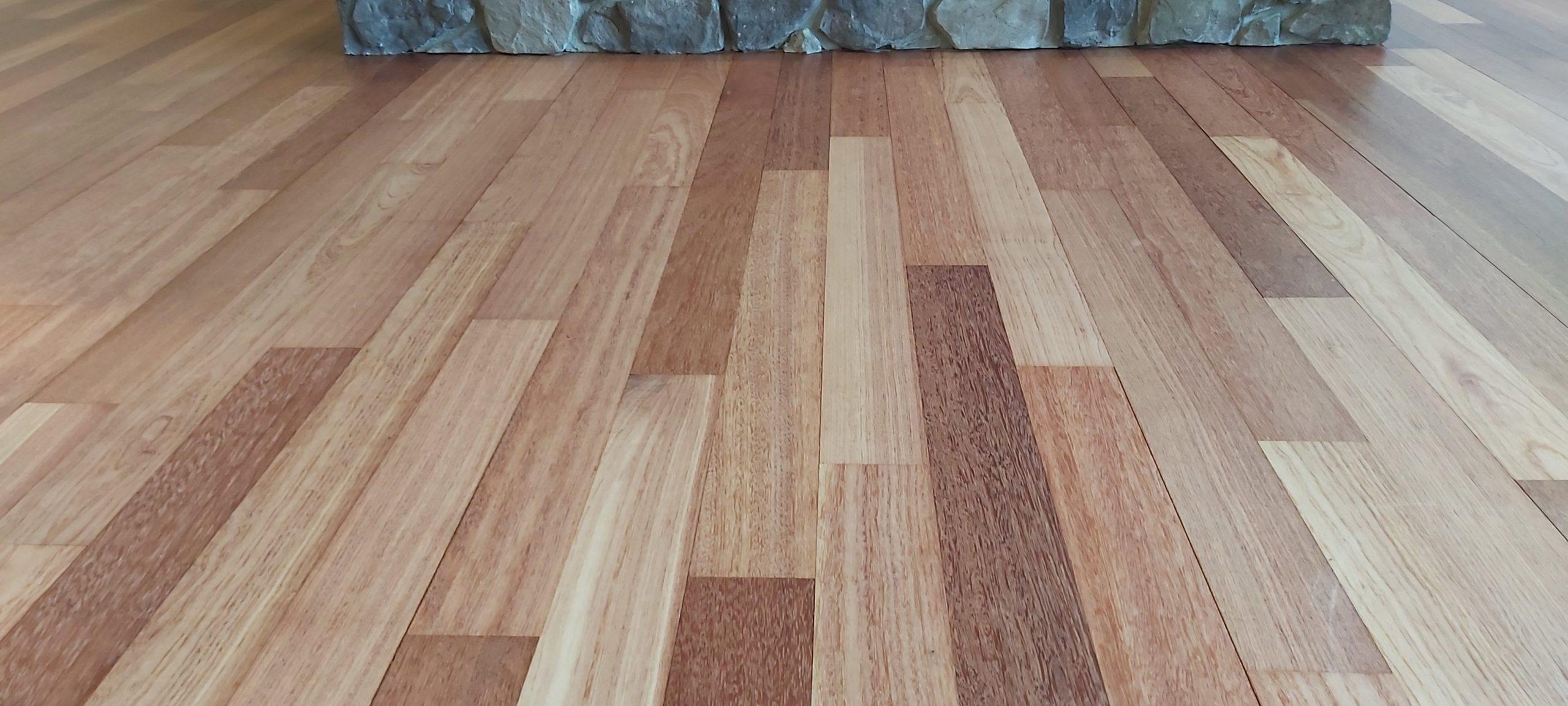 Kempas wood flooringafter scaled