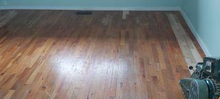 Red oak flooringbefore