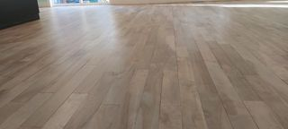 Stained maple wood floor