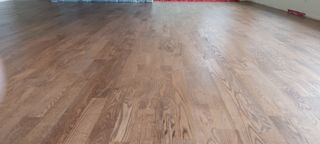 Stained red oak floor